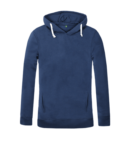 Women's Organic Cotton Blue Hoody