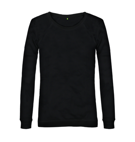 Women's Organic Cotton Black Jumper