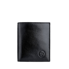 Image 1 of the 'Rocca' Black Veg-Tanned Leather Wallet
