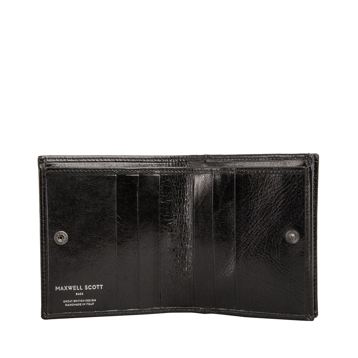 Image 2 of the 'Rocca' Black Veg-Tanned Leather Wallet