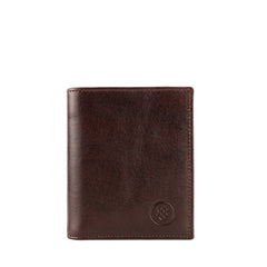 Image 1 of the 'Rocca' Dark Chocolate Veg-Tanned Leather Wallet