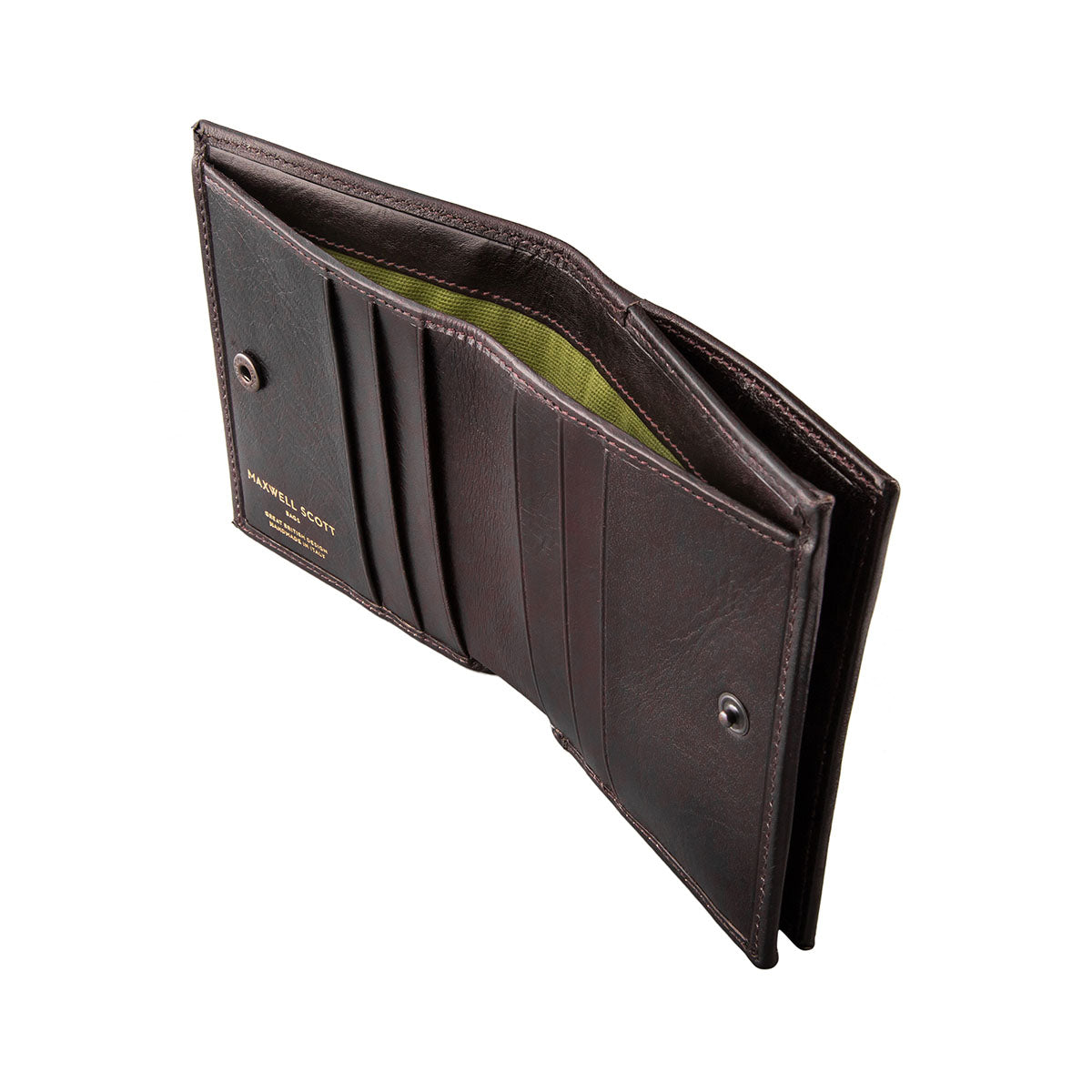 Image 3 of the 'Rocca' Dark Chocolate Veg-Tanned Leather Wallet