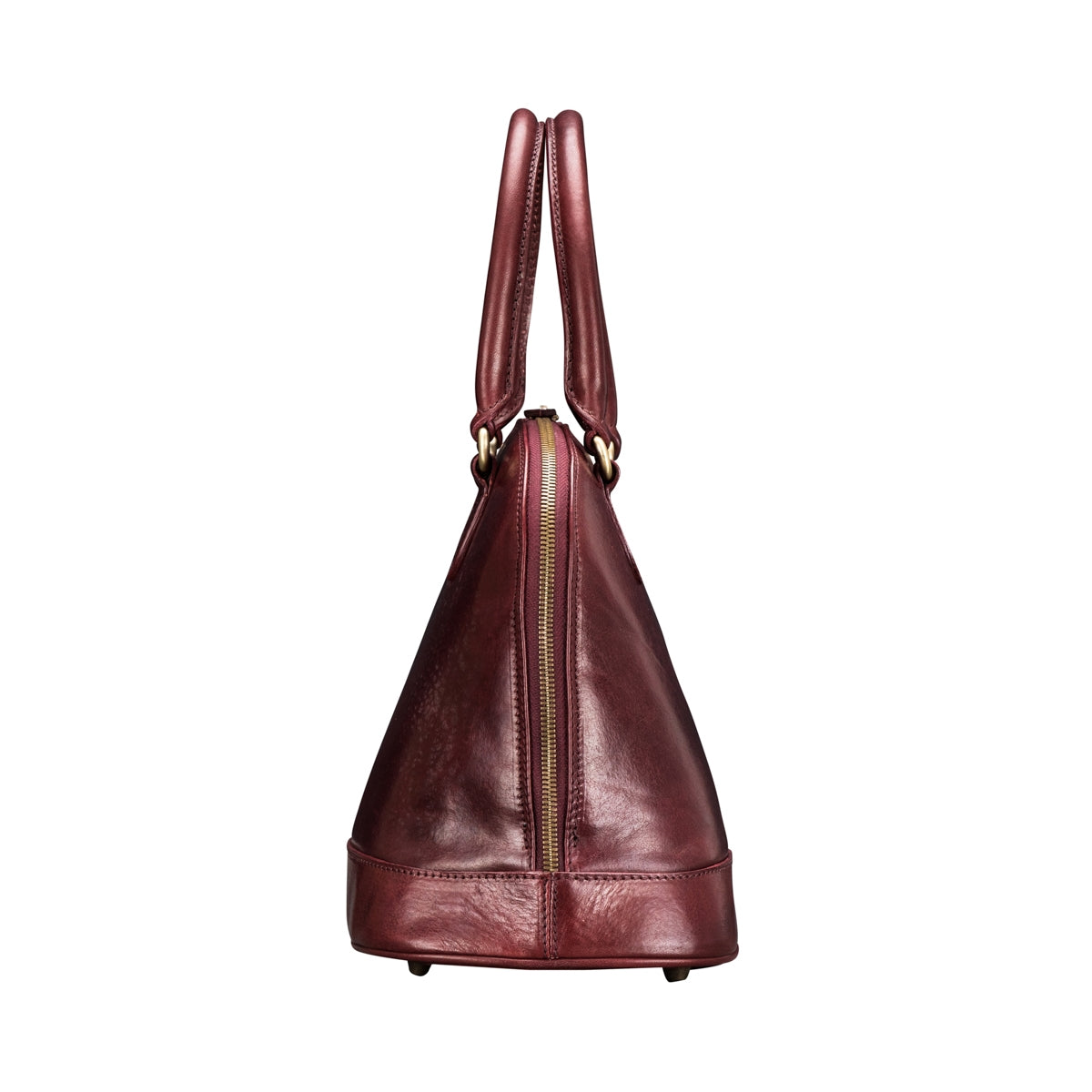 Image 3 of the 'Rosa' Italian Wine Leather Classic Ladies Handbag