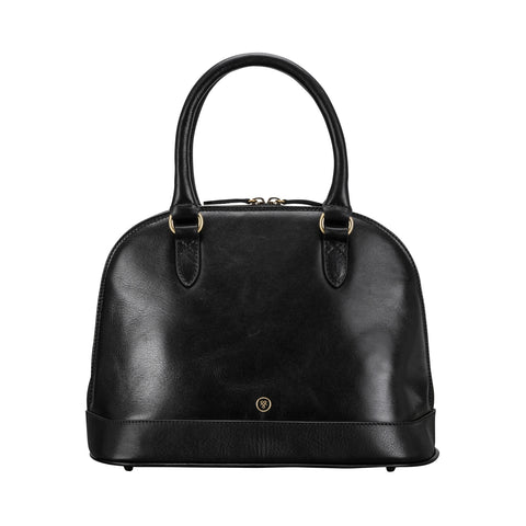 Image 1 of the 'Rosa' Black Veg-Tanned Leather Tote
