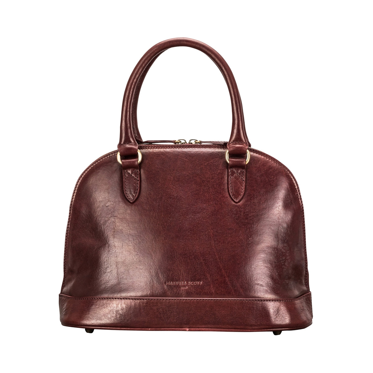 Image 4 of the 'Rosa' Italian Wine Leather Classic Ladies Handbag