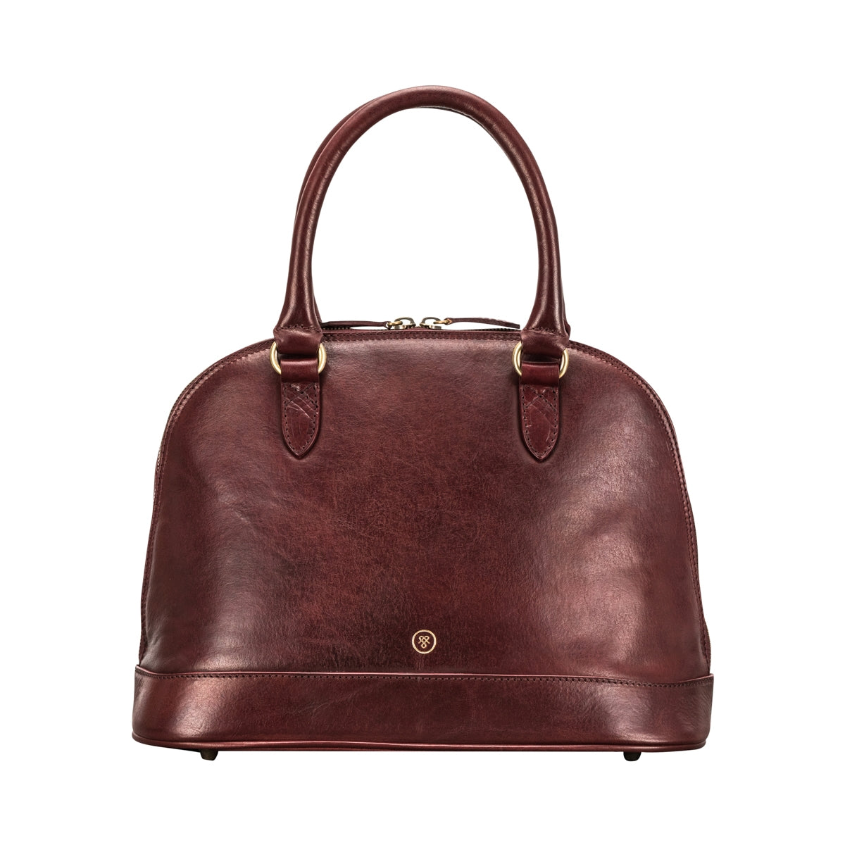 Image 1 of the 'Rosa' Italian Wine Leather Classic Ladies Handbag