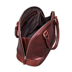 Image 5 of the 'Rosa' Italian Wine Leather Classic Ladies Handbag