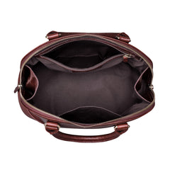 Image 6 of the 'Rosa' Italian Wine Leather Classic Ladies Handbag