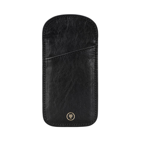 Image 1 of the 'Rufeno' Black Veg-Tanned Leather Glasses Case