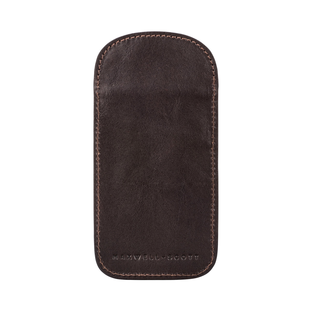 Image 3 of the 'Rufeno' Dark Chocolate Veg-Tanned Leather Glasses Case