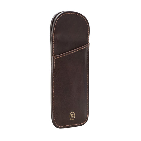 Image 2 of the 'Rufeno' Dark Chocolate Veg-Tanned Leather Glasses Case