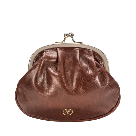 Image 1 of the 'Sabina' Chestnut Veg-Tanned Leather Purse