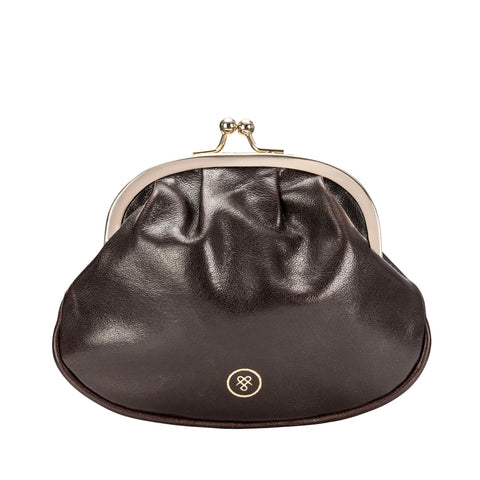Image 1 of the 'Sabina' Dark Chocolate Veg-Tanned Leather Purse