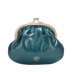 Image 1 of the Petrol Leather Ball Clasp Coin Purse for Ladies