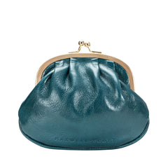 Image 4 of the Petrol Leather Ball Clasp Coin Purse for Ladies