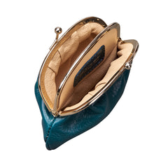 Image 5 of the Petrol Leather Ball Clasp Coin Purse for Ladies
