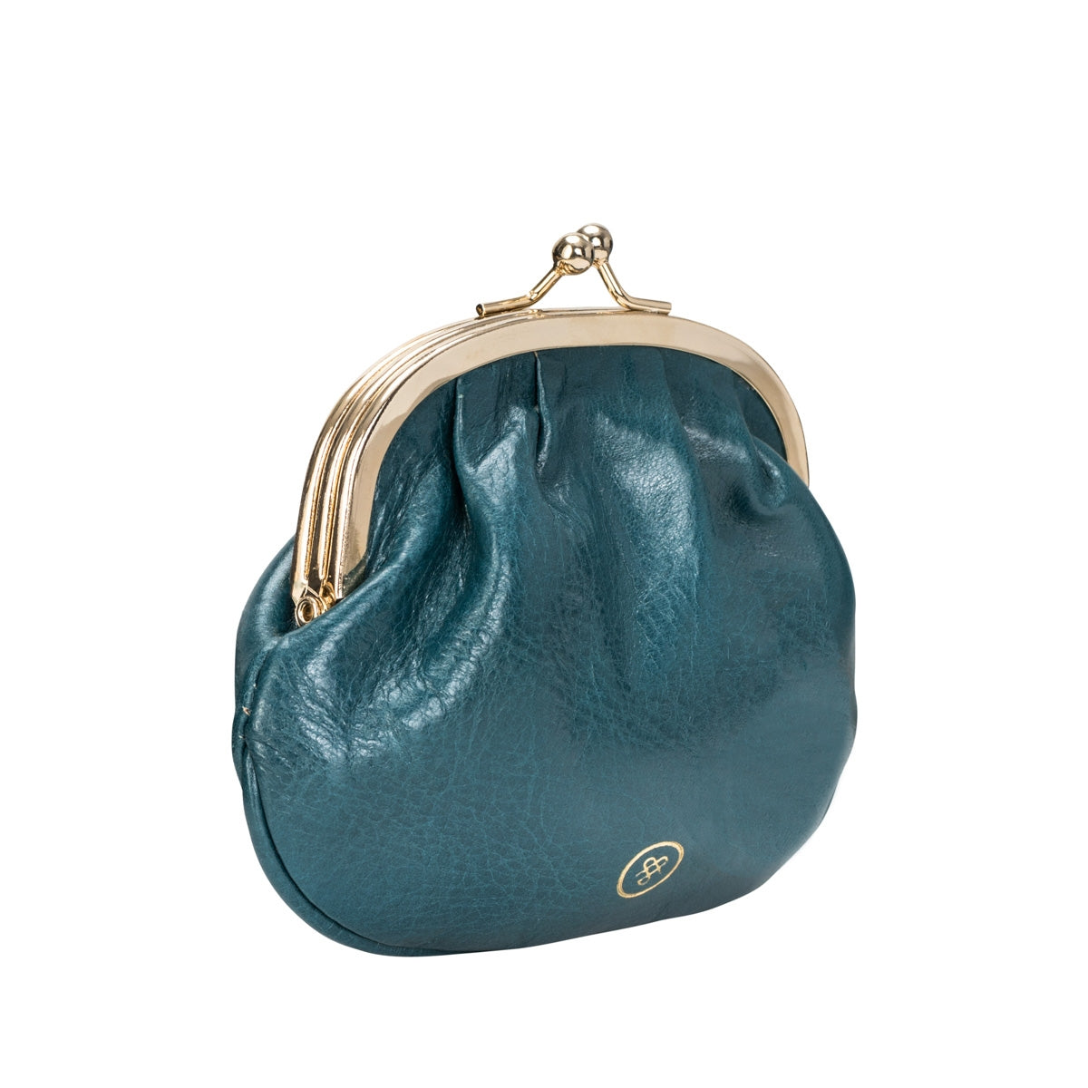 Image 2 of the Petrol Leather Ball Clasp Coin Purse for Ladies
