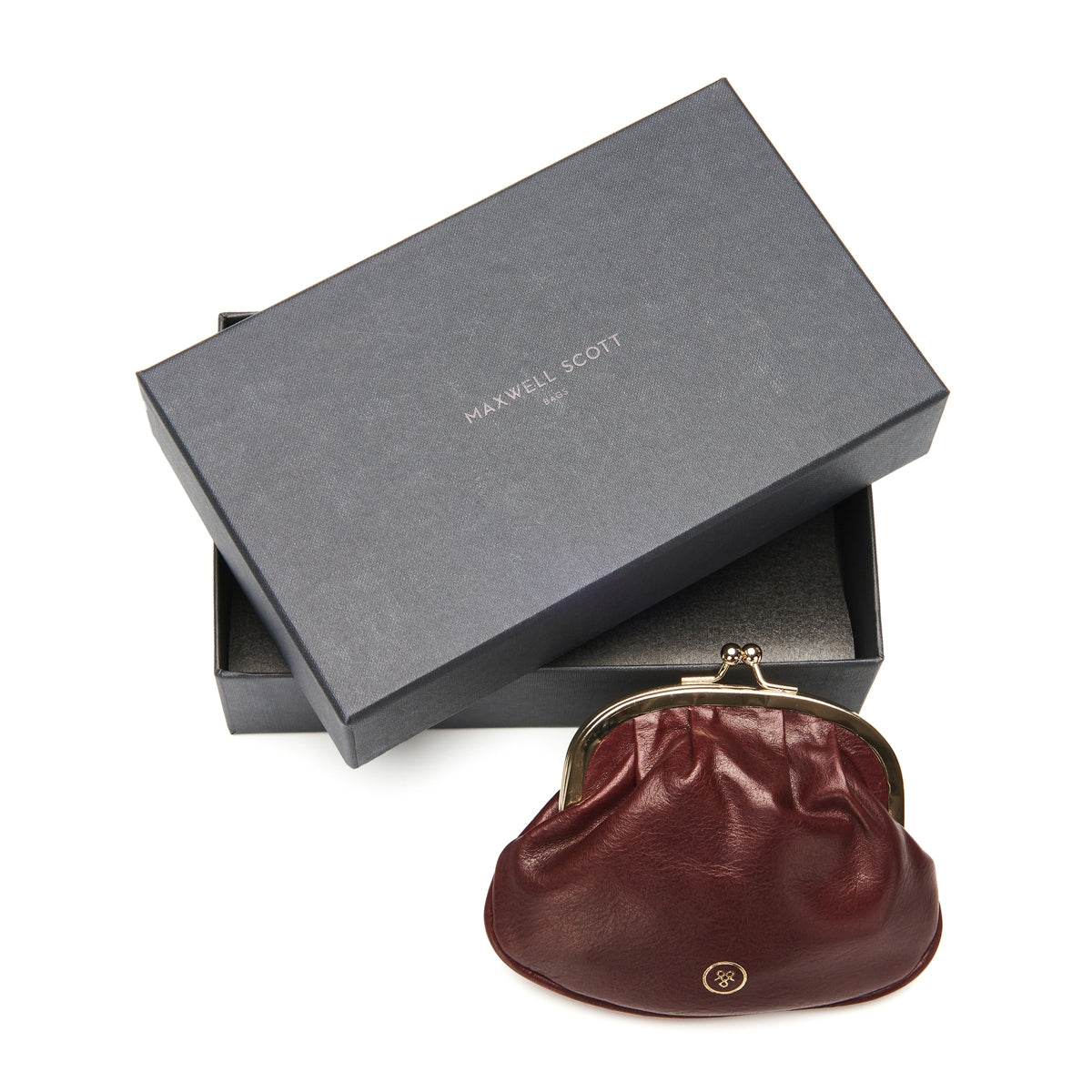 Image 6 of the Wine Leather Ball Clasp Coin Purse for Ladies