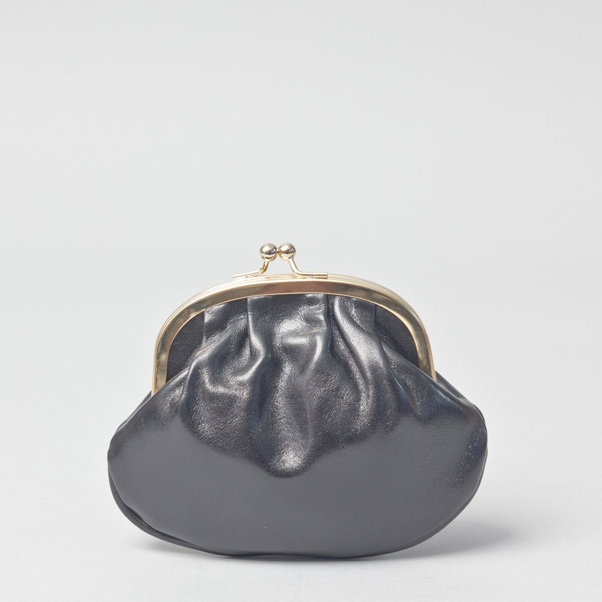 Image 1 of the 'Sabina' Black Veg-Tanned Leather Purse