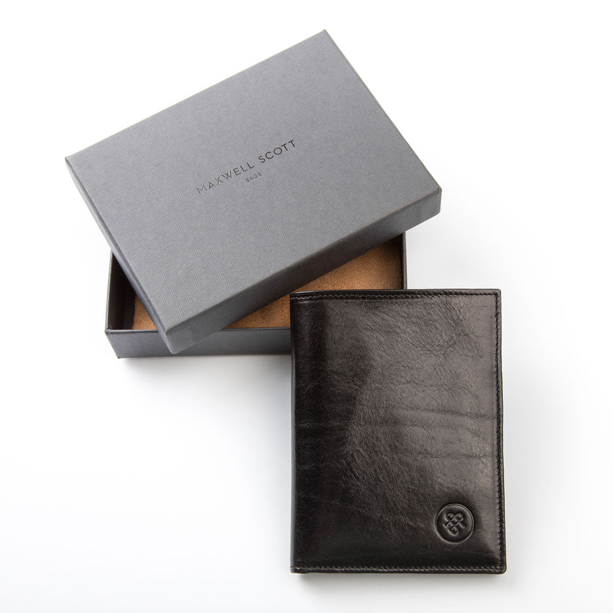 Image 6 of the Black Leather Billfold Card Wallet