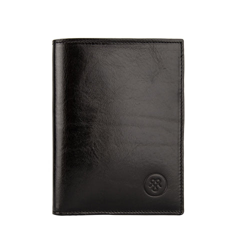 Image 1 of the Black Leather Billfold Card Wallet