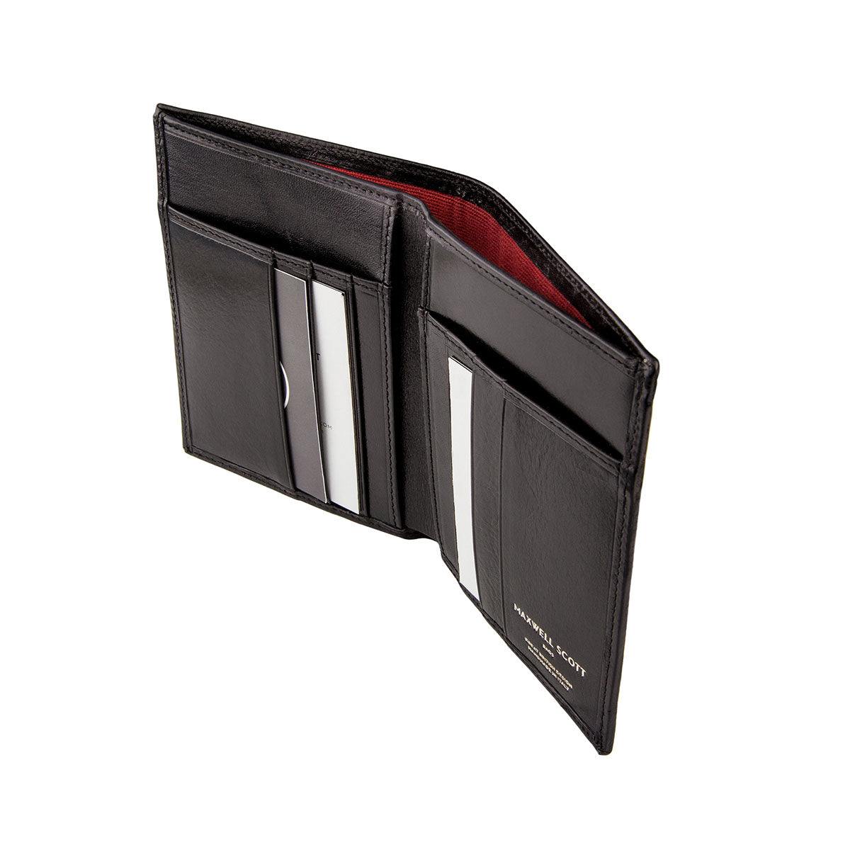 Image 4 of the Black Leather Billfold Card Wallet