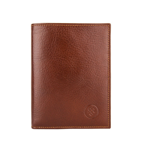 Image 1 of the Salerno' Chestnut Veg-Tanned Leather Bi-Fold Card Wallet