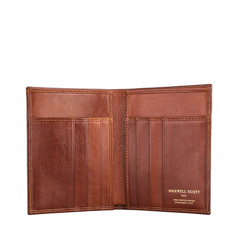 Image 2 of the Salerno' Chestnut Veg-Tanned Leather Bi-Fold Card Wallet