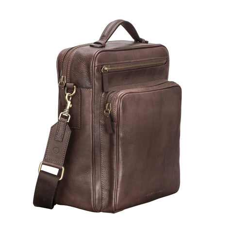Image 2 of the 'SantinoL' Men's Brown Leather Convertible Backpack Shoulder