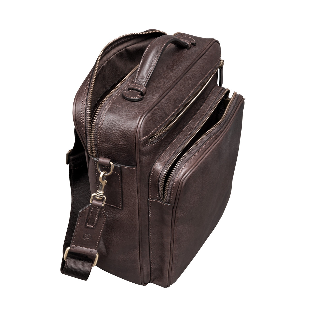 Image 6 of the 'SantinoL' Men's Brown Leather Convertible Backpack Shoulder
