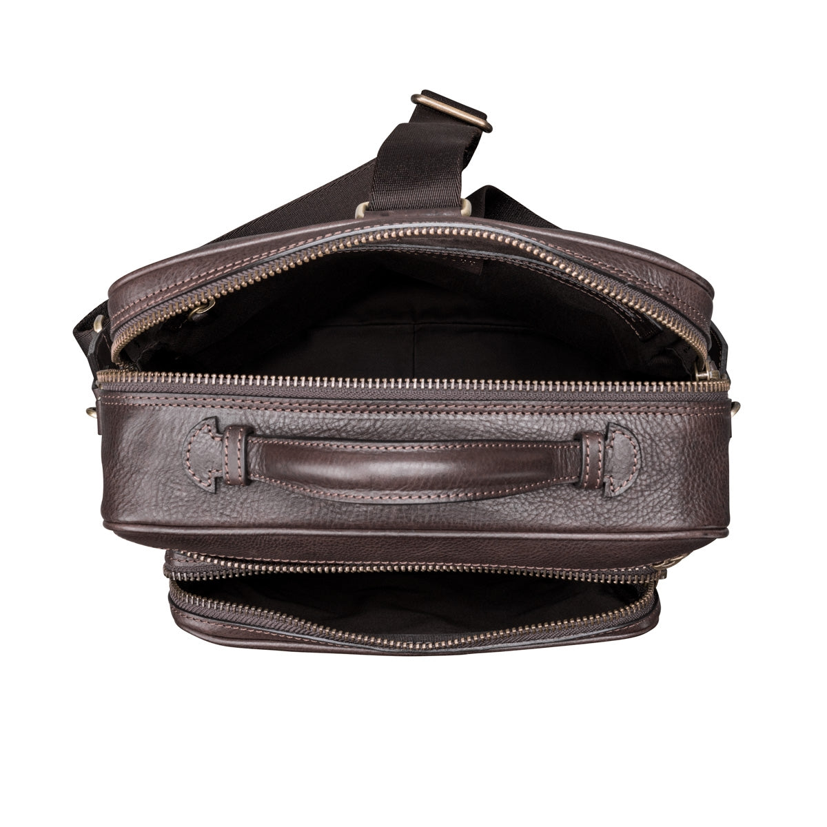 Image 7 of the 'SantinoL' Men's Brown Leather Convertible Backpack Shoulder