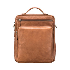 Image 1 of the 'SantinoL' Large Camel Leather Convertible Backpack Crossbody Bag For Men
