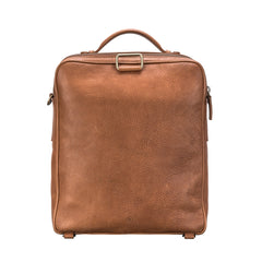 Image 4 of the 'SantinoL' Large Camel Leather Convertible Backpack Crossbody Bag For Men