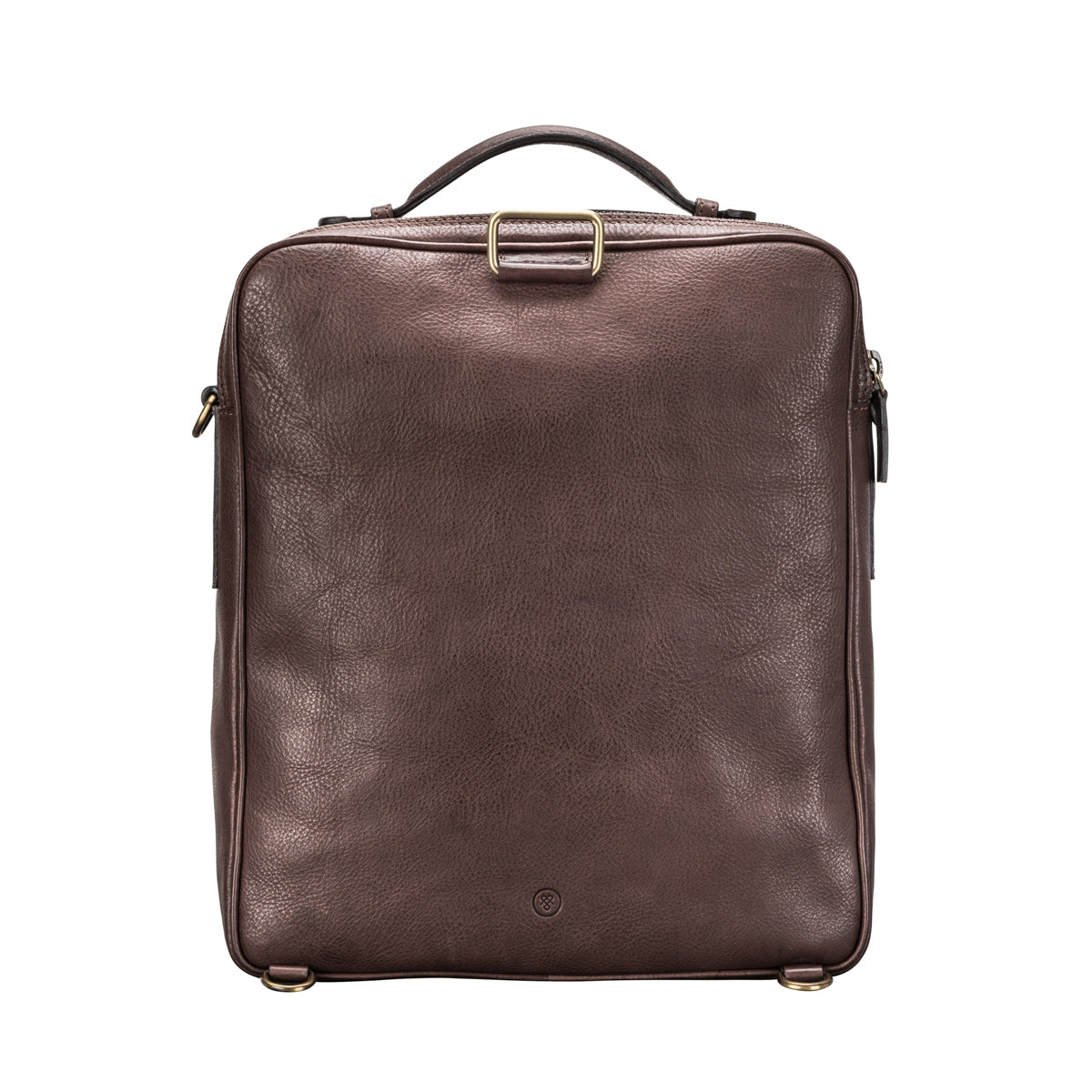 Image 4 of the 'SantinoL' Men's Brown Leather Convertible Backpack Shoulder