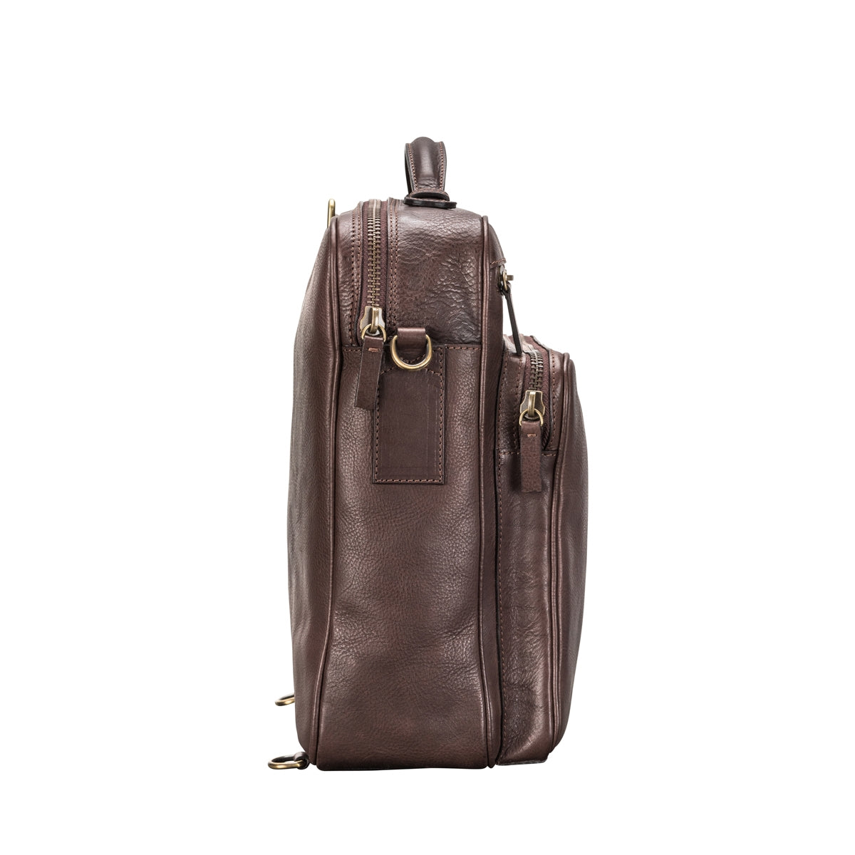 Image 3 of the 'SantinoL' Men's Brown Leather Convertible Backpack Shoulder