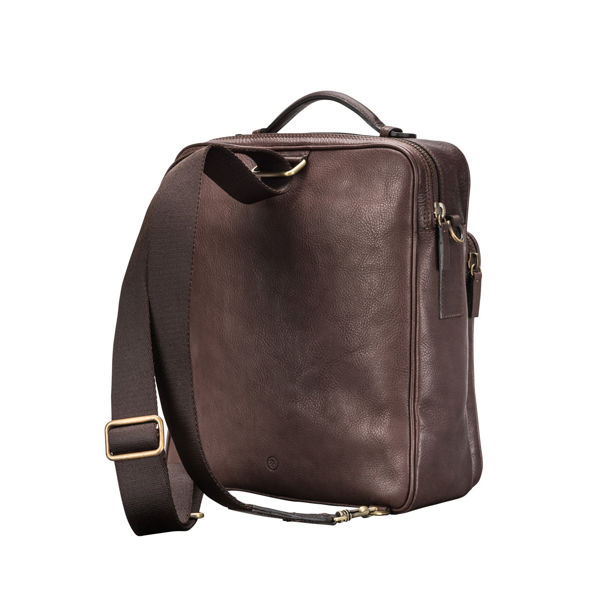 Image 5 of the 'SantinoL' Men's Brown Leather Convertible Backpack Shoulder