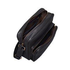 Image 5 of the 'SantinoM' Men's Italian Black Leather Messenger Bag