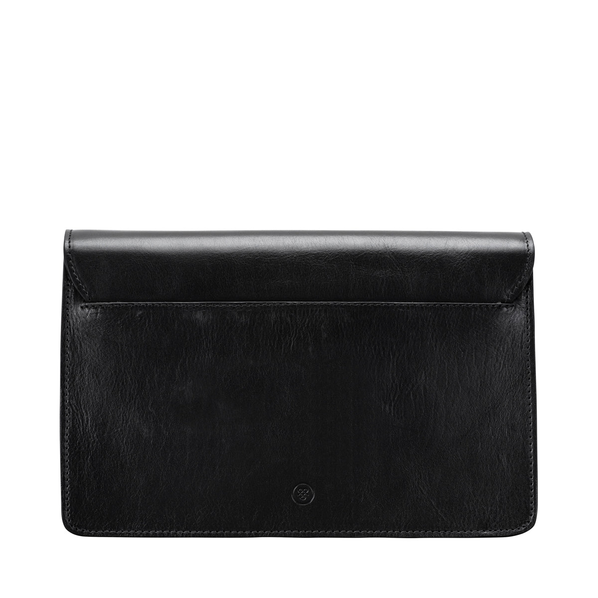Image 4 of the 'Santino' Black Handmade Veg-Tanned Leather Wrist Bag