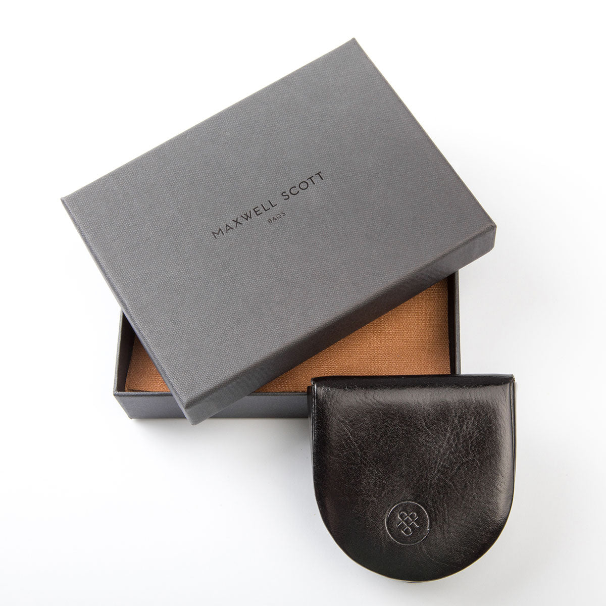 Image 5 of the 'Savino' Black Veg-Tanned Leather Coin Wallet