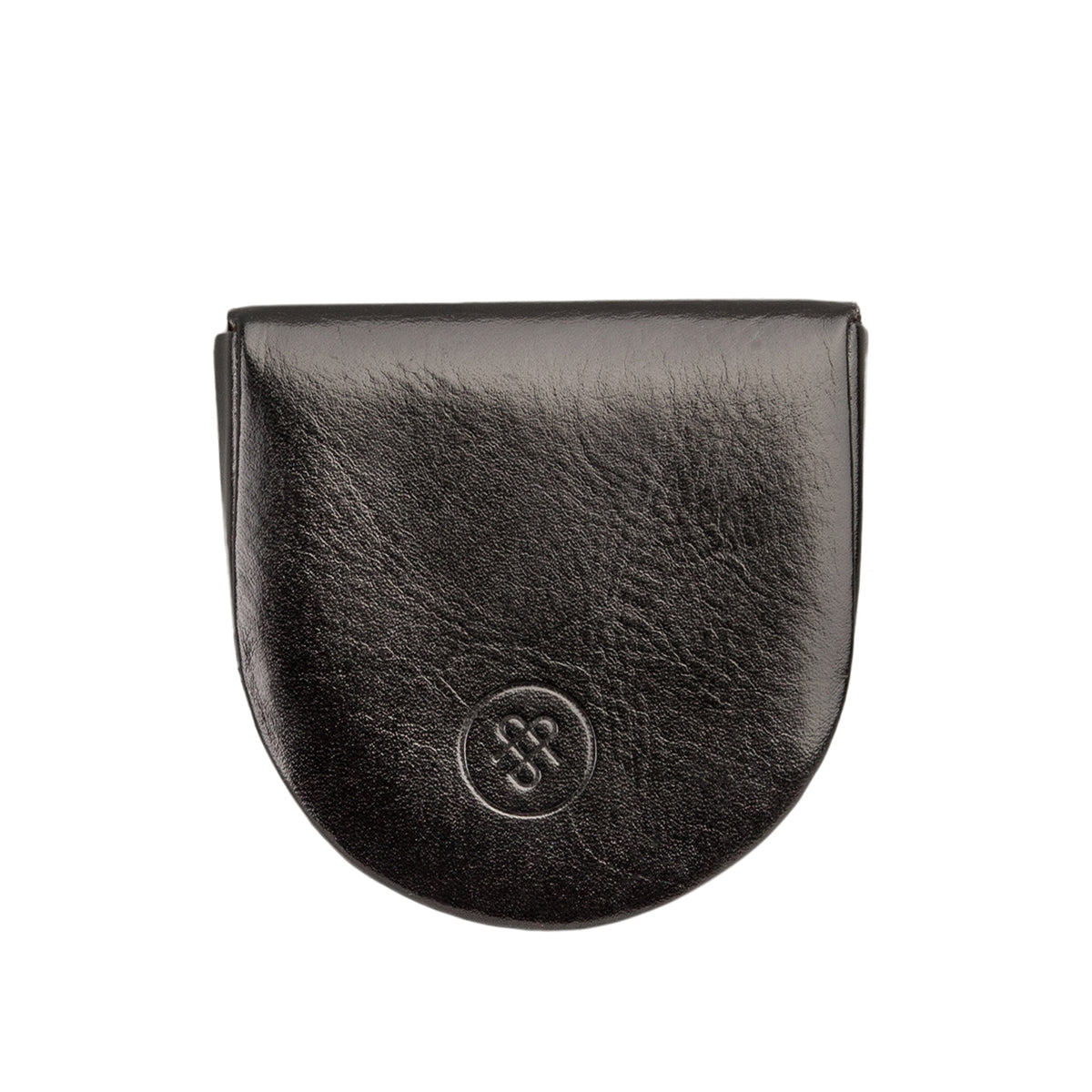 Image 3 of the 'Savino' Black Veg-Tanned Leather Coin Wallet