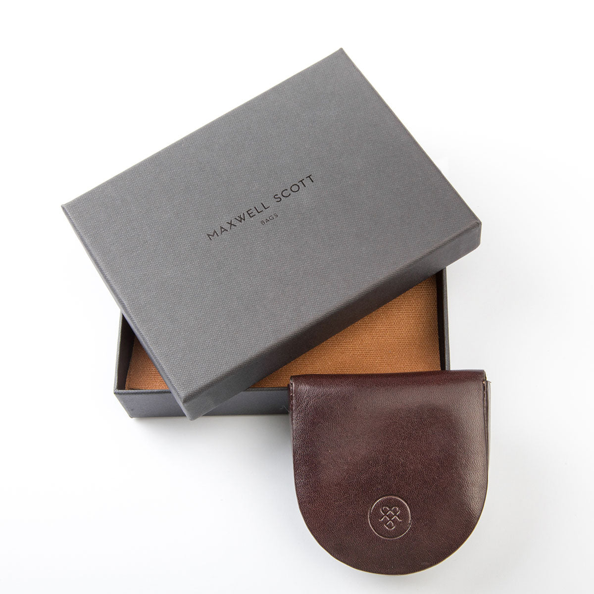 Image 5 of the 'Savino' Brown Veg-Tanned Leather Coin Wallet