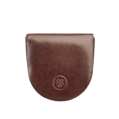 Image 1 of the 'Savino' Brown Veg-Tanned Leather Coin Wallet