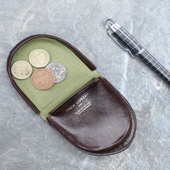 Image 6 of the 'Savino' Brown Veg-Tanned Leather Coin Wallet