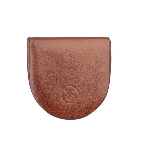 Image 1 of the 'Savino' Chestnut Veg-Tanned Leather Coin Wallet