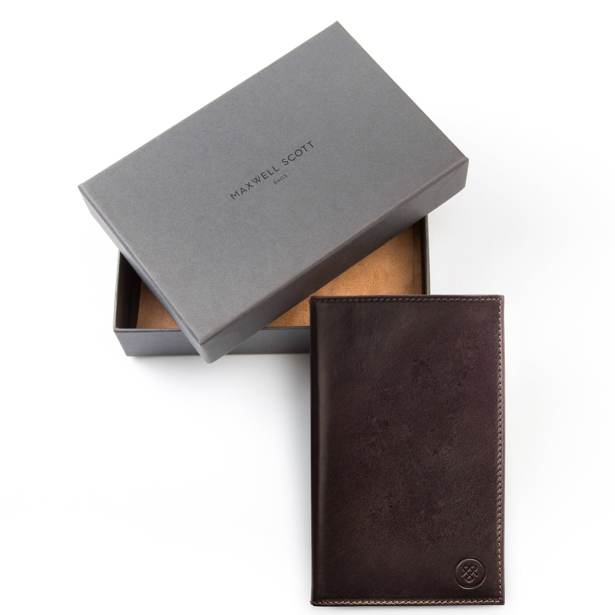 Image 6 of the 'Sestino' Dark Chocolate Veg-Tanned Leather Golf Card Holder