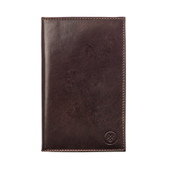 Image 1 of the 'Sestino' Dark Chocolate Veg-Tanned Leather Golf Card Holder
