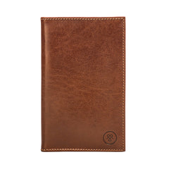 Image 1 of the 'Sestino' Chestnut Veg-Tanned Leather Golf Card Holder