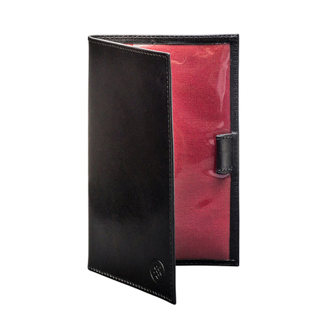 Image 2 of the Sestino' Black Veg-Tanned Leather Golf Card Holder
