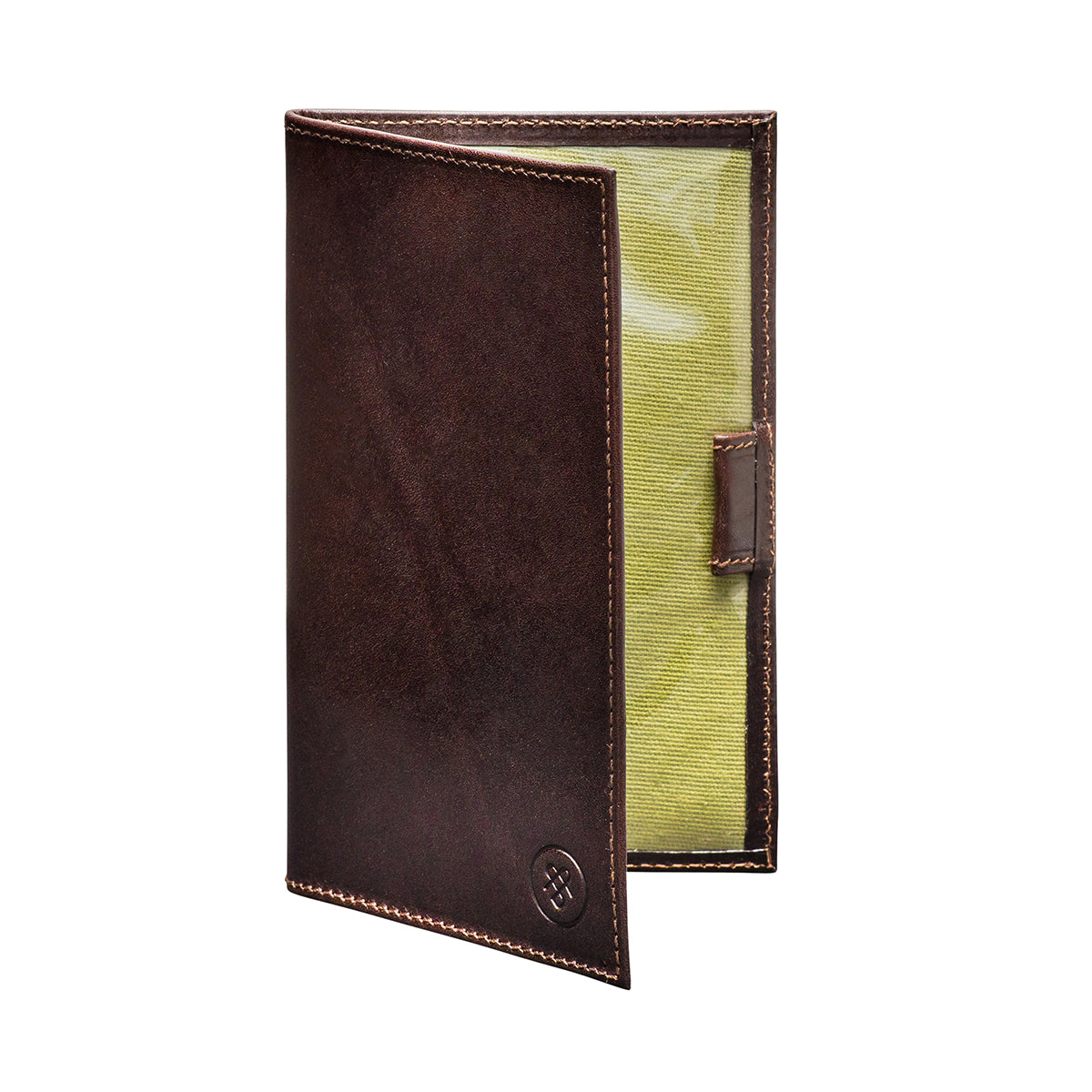 Image 2 of the 'Sestino' Dark Chocolate Veg-Tanned Leather Golf Card Holder
