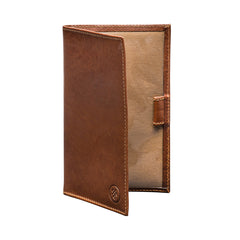 Image 2 of the 'Sestino' Chestnut Veg-Tanned Leather Golf Card Holder